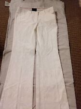 The Limited Drew Fit Size 0 Ivory/white Embroidered Pant
