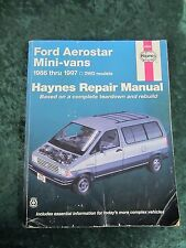 Haynes Ford Aerostar Mini-vans 1986-1997 2WD models Repair Manual - Free Ship!