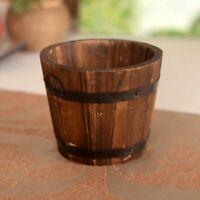 Bucket Ornamental Wooden Flower Pot Rustic Style Flower Basket Small Barrel