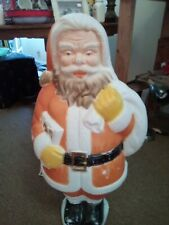 "New ListingVintage Poloron Christmas 31"" Santa Claus with List Lighted Blow Mold"