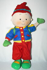"""CAILLOU CINAR CHOUETTE 15"""" 2002 POSEABLE PLUSH BOY SOFT DOLL BACKPACK RED HAT"""