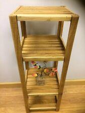 Bathroom Kitchen SHELF handmade Unit Floor Standing Hard Wood Oak