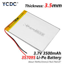 3.7V 3500mAh Li-Po Rechargeable Battery 357095 For DVD GPS PDA PAD MID Tablet E