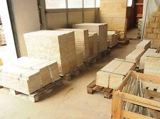 Mauerabdeckplatten aus Sandstein 100*29*5 cm Längskanten bossiert - Tropfrillen