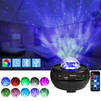 Romantic LED Starry Night Sky Projector Lamp Ocean Wave Star Light Room Decor UK