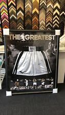 MUHAMMAD ALI SIGNED FRAMED THE GREATEST BOXING TRUNKS BACKDROP With COA