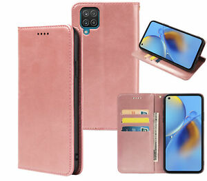 Galaxy A12 Pu Leather Slim Flip Case Concealed Magnet