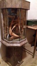 aqarium eigenbau sechseckig aus marmor in 3 teile zerlegbar mit allem Zubehör.