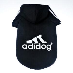 Dog Shirt Adidog Dog SweatShirt Clothes Warm Hoodie Coat Hooded Sweatshirt NEW