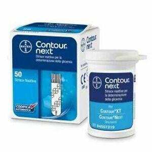 50 Contour Next strisce reattive diabete test glucosio scadenza: 11-2022