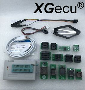 XGecu TL866II Programmer PLUS for SPI Flash NAND EPROM+13 adapter+clip ship USA