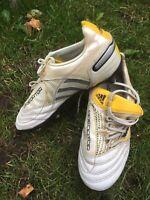 ADIDAS PREDATOR X TRX-FG WHITE/YELLOW RARE FOOTBALL BOOTS SIZE UK 3