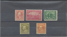 Early Mint hinged Lot: #336, #373, #397, #414, #433 Retail over $180