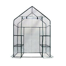 "Homewell Mini Walk-In Greenhouse with 3 Tiers 6 Shelves (56"" L x 29"" W x 77"" H)"