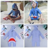 2-9Y Kid Baby Boy Girl Swimsuit Swimwear Rash Guard Shark Costume Surf Swim Suit