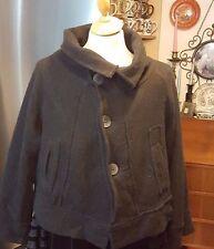 ALEMBIKA Israel Short 100% Wool Black  Coat