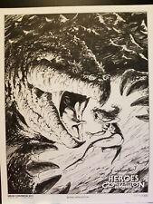 Bernie Wrightson HeroesCon 2011 Signed 11x14 Print 349/1500 Heroes Convention