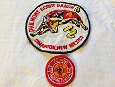 Vintage PHILMONT SCOUT RANCH Jacket Patch & RARE PHILMONT TRAINING CENTER Patch