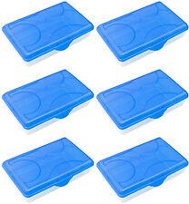 6-Pack Sterilite Multi-Purpose Plastic Storage Boxes, Clear/Blue | 6 x 17294806