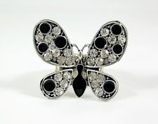 Adorable New Butterfly Stretch Ring With Crystals #R1204