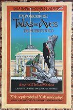 Sixto Cotto Cartel Serigrafia Print Expo Talla De Aves De Puerto Rico 1985 ICP