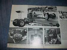 """1972 Vintage Streamlined Mid-Engined Dragster """"Diamond Jim's Real Racer"""""""