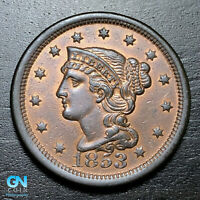 1853 Braided Hair Large Cent --  MAKE US AN OFFER!  #B3683