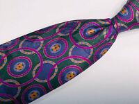 Stefano Ricci Vibrant Multicolor Geometric Pattern 100% Silk Mens Tie Italy