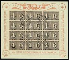 Switzerland CENTENARY SHEET 1943 FDC