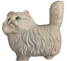 "Ceramic Persian Cat Figurine  10"" Tall."