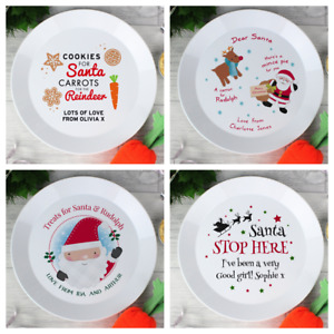 PERSONALISED MINCE PIE FOR SANTA PLATE    CHILDRENS BABY CHRISTMAS EVE GIFT IDEA