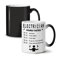 Electrician Hourly Rates NEW Colour Changing Tea Coffee Mug 11 oz | Wellcoda