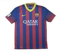 Barcelona 2013-14 Authentic Home Shirt (Excellent) M Soccer Jersey