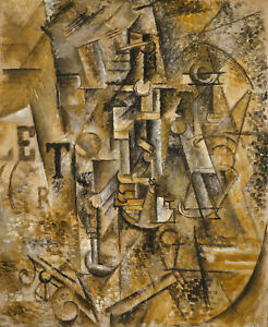 """Still Life with a Bottle of Rum 1911 Picasso - 17"""" x 22"""" Fine Art Print - 00825"""