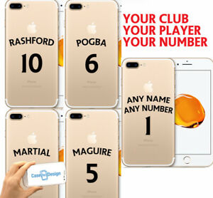 Man Utd Football Shirt Style Phone Case Cover - Any Name & Number iPhone Samsung