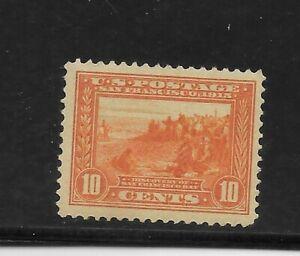US Scott #400a mint never hinged 10c orange 1913 Panama Pacific Expo og f/vf