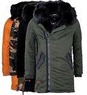 marikoo Osaka Men's Warm Winter Jacket Winter Parka Winter Coat Long Jacket