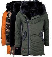 Marikoo OSAKA Herren Warme Winter Jacke Winter Parka Winter Mantel Lange Jacke