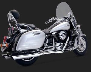 Vance & Hines Bagger Slash Cut Dual Full Exhaust System Chrome 18369