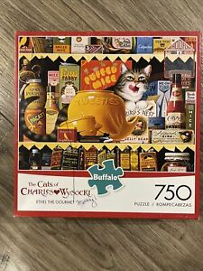Cats of Charles Wysocki ETHEL THE GOURMET 750 Piece Puzzle w/ Poster