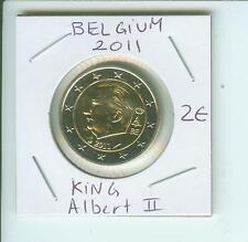 2011 2€ BELGIUM 2 Euro  2 € Bimetallic Coin King ALBERT II  !!!!