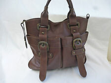COCCINELLE  DARK BROWN QUALITY LEATHER TOTE BAG