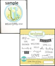 Taylored Expressions LITTLE BITS OF BABY Rubber Stamp TEMS89 Welcome Shower