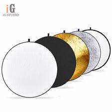 """80cm 32"""" 5 en 1 Estudio de Fotografía Reflector Plegable luz disco de foto Multi"""