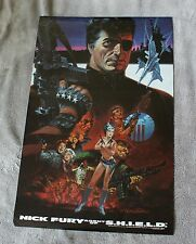 NICK FURY Agent of SHIELD 1988 STERANKO Statue Liberty Marvel Press Poster VGFN