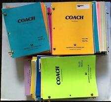 COACH Collection of 87 Original TV Scripts (Seasons 1-9) Craig T Nelson