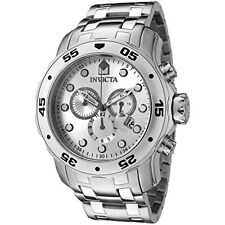 Invicta 0071 Men's Pro Diver Chronograph Silver Dial Stainless Steel Watch