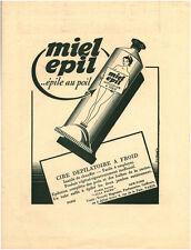 Publicité ancienne cire dépilatoire à froid miel épil