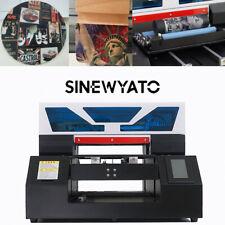 SINEWYATO UV Printer A3 Flatbed LED Bottle Acrylic Plastic Phone Case Printing