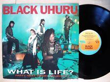 """Black Uhuru What Is Life / Solidarity / Party Next Door UK 12"""" Island 1984 EX"""